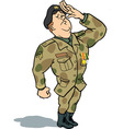 army soldier saluting vector image vector image