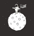 astronaut on lunar surface vector image vector image