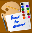 back to school set of tools for drawing vector image vector image