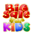 big sale sign vector image