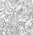 Black and white abstract psychedelic seamless vector image vector image