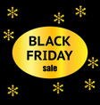 black friday sale banner with snowflakes design vector image