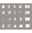 Business money and finance web icons set vector image vector image