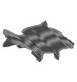 carp silhouette vector image