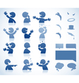 Character in various postures vector image vector image