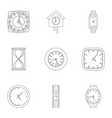 chronometer icons set outline style vector image vector image