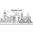 Cincinnati ohio architecture line skyline vector image