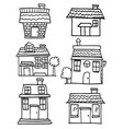 collection of house set various vector image vector image