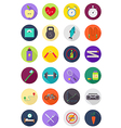 Color round healthy lifestyle icons set vector image vector image