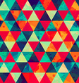 colored triangle seamless pattern with blot effect vector image vector image