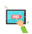 concept of job searching on tablet vector image