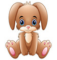 cute little bunny cartoon sitting vector image vector image