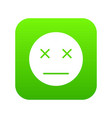 dead emoticon digital green vector image