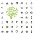 eco tree icon and alternative energy