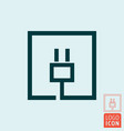 electric plug icon electrical cable charge vector image vector image