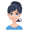 facial expression of a woman - smiling vector image