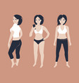 fit young woman posing vector image vector image