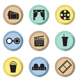 Flat Design Cinema Icons vector image vector image