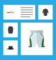 flat icon garment set of uniform trunks cloth vector image vector image