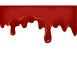 flowing blood on white background vector image vector image