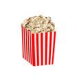 fresh popcorn box mockup realistic style vector image vector image