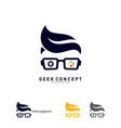 geek games leaf logo concept game geek logo vector image vector image