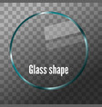 glass shapes with reflections vector image vector image