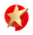 golden 3d star with 3d star with highlights vector image