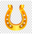 golden horseshoe lucky vector image vector image