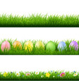 green grass borders collection white background vector image vector image
