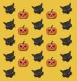 halloween background pattern vector image