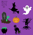 Halloween decor set vector image vector image