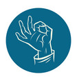 hand ok okay gesture vector image vector image