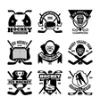 Ice Hockey Badges vector image vector image