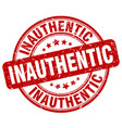 inauthentic red grunge stamp vector image vector image