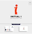initial i food equipment simple logo template vector image vector image