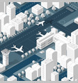 isometric 3d airport dimensional vector image vector image