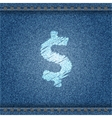 Jeans banner with dollar symbol vector image vector image