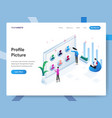 landing page template profile picture vector image
