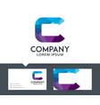 letter c - logo design vector image vector image