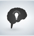 light bulb idea with brain creative light bulb vector image