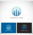line building business logo vector image vector image