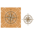 medieval compass vector image vector image