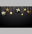 merry christmas and happy new year on dark vector image vector image