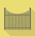 metal new fence icon flat style vector image