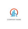 modern building realty logo vector image