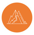 mountain peaks icon in thin line style vector image vector image