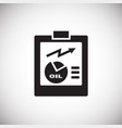oil refine report on white background vector image vector image