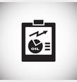 oil refine report on white background vector image