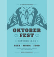oktoberfest party flyer or poster retro typography vector image vector image